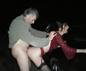 Older men fucking young sluts in depth of a night