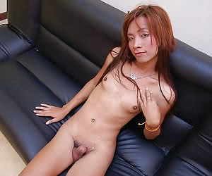 Shy thai tranny stripping for the first time
