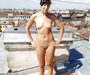 Young nudists outside