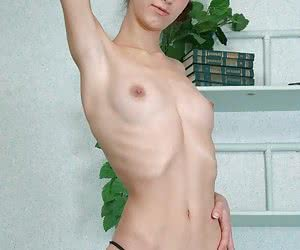 Anorexic girls posing nude for food