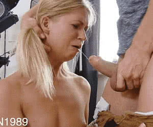 Rough Blowjob animated GIF
