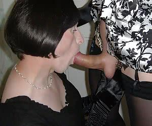 Crossdressers Crazy For Cock